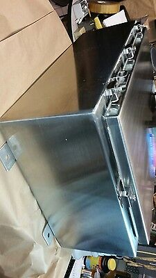 """Hoffman A24H1608Sslp 24"""" X 16"""" X 8"""" Stainless Wall Mount Hinged Seal Enclosure"""