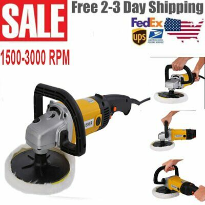 "New 7"" Electric 6 Variable Speed Car Polisher Buffer Waxer Sander Detail Boat HM"