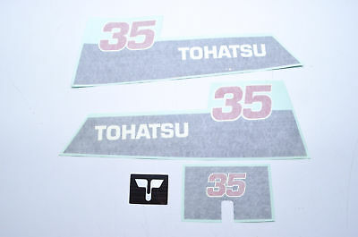 New OEM Tohatsu 35 HP Decal Kit NOS