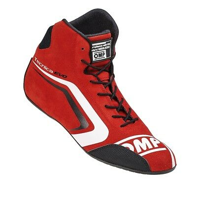 FIA OMP TECNICA EVO Race shoes Red rally boots Drive Leather 8856 NEW 2017