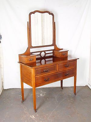 An Antique Edwardian Dressing Chest Table With Mirror ~Delivery Available~