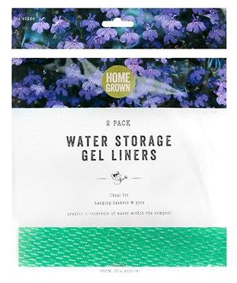 2 X Garden Water Storage Gel Liners Reservoir Hanging Basket Pots Plants Borders