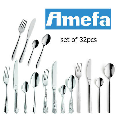Amefa Cutlery Set 32 Piece Stainless Steel Stylish Kitchen Dining Table Utensils