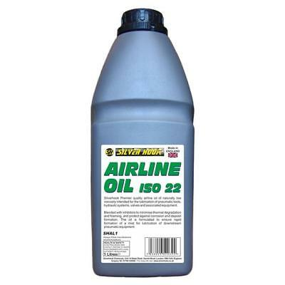 Silverhook Airline Oil ISO 22 Lubricates Workshop Tools And Air Lines 1 Litre...