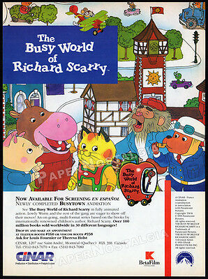 THE BUSY WORLD OF RICHARD SCARRY__Original 1994 Trade Print AD / TV series promo