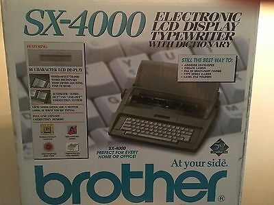 Brother SX-4000 Electronic Typewriter - Great Condition!
