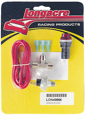 Longacre 40000 Oil Pressure Warning Light Kit #1723