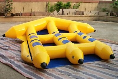 Inflatable Fly Fish Dinghie Flyboat 6 Persons Slide Flying Banana Boat Water Tow