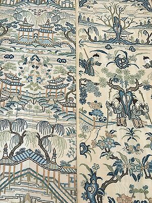 Antique Chines Silk Embroidered Sleeve Bands Panel