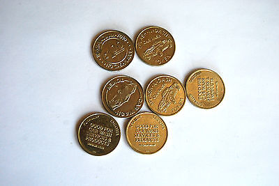 Lot of Car Wash Tokens, One Dollar, Metal