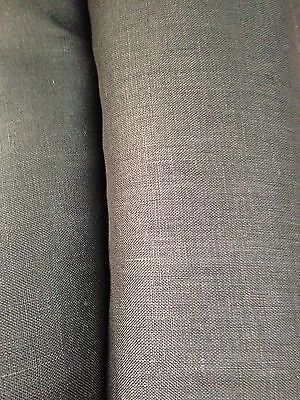 100% Quality black Irish Linen, material for shirts, suits, dresses 150cm wide