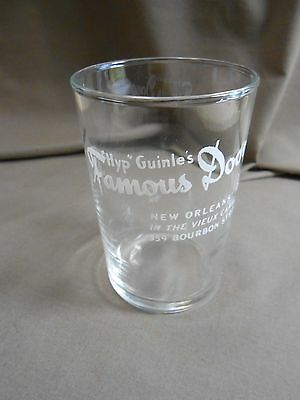 New Orleans  Hyp Guinle FAMOUS DOOR 50' Cocktail GLASS restaurant china hotel A