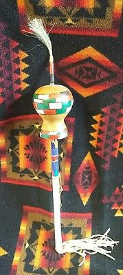 Vintage Native American Peyote Gourd Rattle Signed.artifact Great!