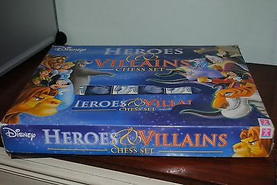 Disney Heroes and Villains chess set Complete