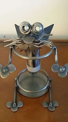 Vintage Quirky Funky Handcrafted Steampunk Cat Purrfect For The Feline Lover