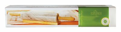 """Fox Run Marble Rolling Pin 2-3/8"""" X 10"""" Wood White Boxed"""