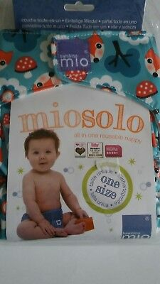 Bambino Mio MioSolo All-in-One Re-Usable Nappy (Fox) One Size Adjustable