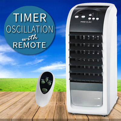 Portable Air Cooler 3 Speed Humidifier Cooling Room Refresher Ice Remote Timer