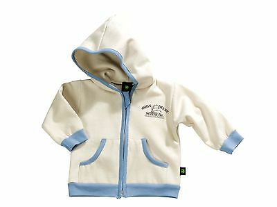 John Deere Babies Cream Hooded Jacket - Available in 3-18 Months
