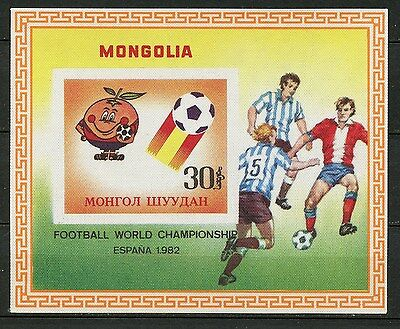 MONGOLIA, ITALY WISTS FOOTBALL THE WORLD CUP - ESPAÑA 1982, (Ref. 2)