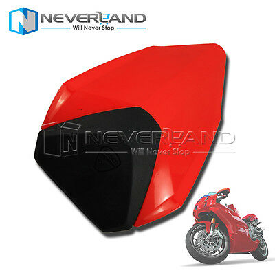 Pillion Rear Seat Cover cowl Red For Ducati 1199 1299 899 2012-2015 13 14 Motor