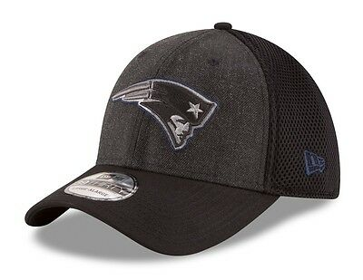 "New England Patriots New Era NFL 39THIRTY ""Heathered Black Neo"" Flex Fit Hat"