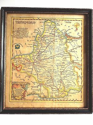 Original Antique Map*devonshire England*by T.kitchin Circa 1786*framed & Glazed