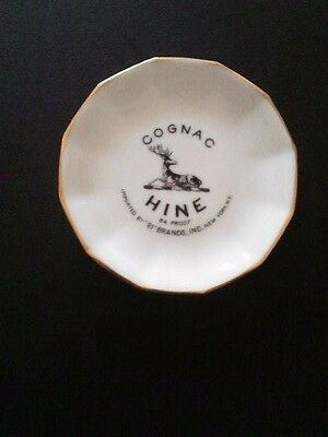 "Vintage COGNAC HINE 3-3/4"" Porcelain Dish Limoges France CH. FIELD HAVILAND"