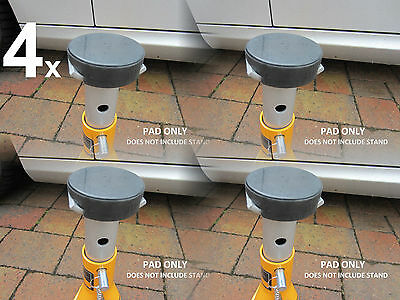 4 x Axle Stand underseal rubber protection pads classic car Jack  Halfords JCB