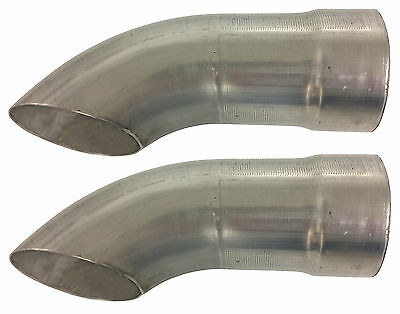 "Schoenfeld 3525 3-1/2"" Exhaust Turnouts - Pair  #1769"