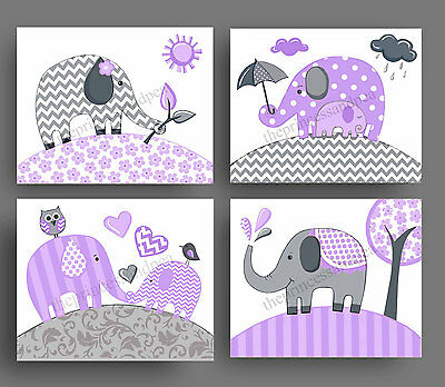 elephant nursery art prints for girl chevron bedding bedroom wall decor pictures