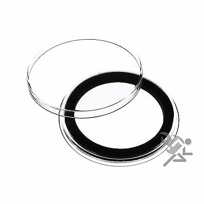 Morgan Silver Dollar Coin Capsules, Air-Tite Holders 38mm Black Ring, 5 Pack