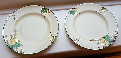 Vintage Art Deco Morley Ware Mayfair Design X2  Plates