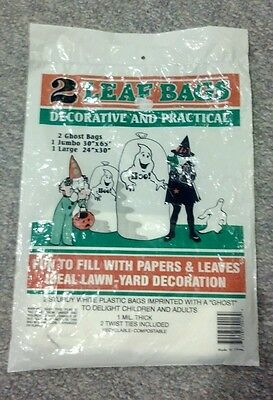 Halloween Package, 2 Halloween Ghost Leaf Bags & Snoopy Jello Treats Form Tray