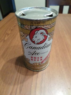Rare Beauty Hi Grade Vintage Canadian Ace BOCK Chicago Flat Top Beer Can