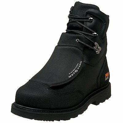 "Timberland PRO Men's 53530 8"" Metguard Steel-Toe Boot Black"
