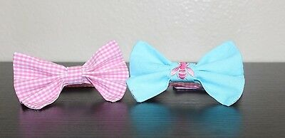 NEW Baby Boy toddler Bow Ties custom Lilly Pulitzer Pink gingham check 12m-4T