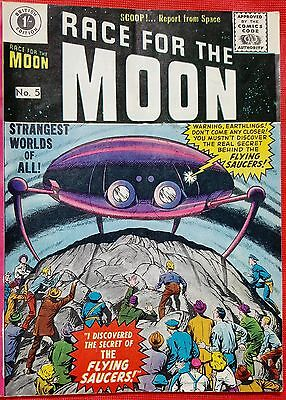 RACE FOR THE MOON 5 THORPE & PORTER SILVER AGE 1959 Steve Ditko & Jack Kirby art