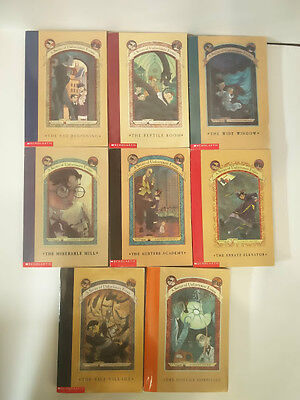Series of Unfortunate Events by Lemony Snickett Paperback Set lot of books 1-8.