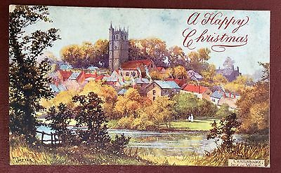 Vintage Greetings Postcard - A Happy Christmas - Carisbrooke, Isle Of Wight