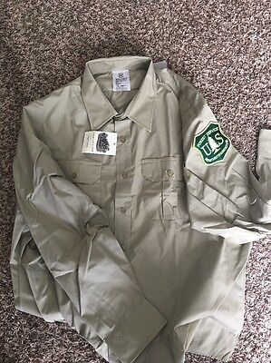 USFS Uniform Long Sleeve Shirt Patch XXL 19/37 New With Tags Forest Service