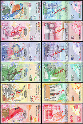 Bermuda 2 to 100 Dollars 6 Piece(PCS)Full Specimen Set, 2009,P-57sT62s,UNC,Onion