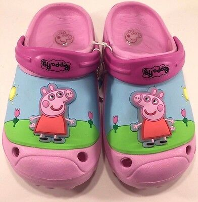 Peppa Pig Toddler Girls Croc Pink Sandals with Light
