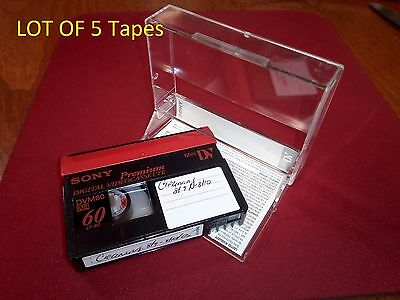 SONY Mini DV 60 Minute Tapes Lot of 5 USED