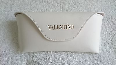 Glasses Case with Cloth,VALENTINO,Leather,White,Women's