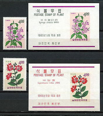 Corea, Stamps, Postage Stamp Of Plant, Korea 1965, Flores, (2)