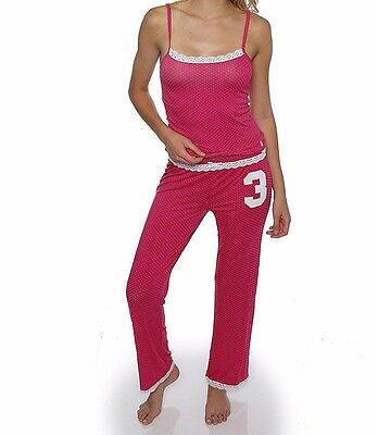 U.S. Polo Assn. Women's 2 Piece Matching Camisole Tank Top and Long Pants Pajama