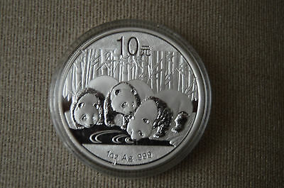 2013 China 1 oz Silver Panda BU (In Capsule) 100% Genuine