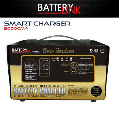 Smart Battery Charger 12V Lead Acid Gel AGM Batteries 20A Bike Car Boat Truck