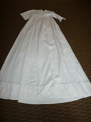 Antique / Vintag Christening Gown Wonderful 8 Includes Primitive Hanger